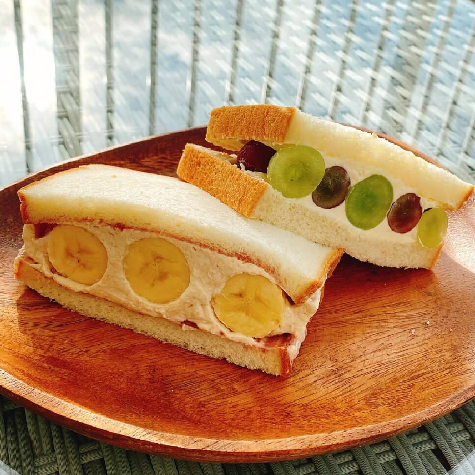 沖縄・那覇のバナナジュース専門店「BANANA BOON」 フルーツサンド